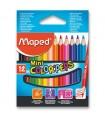 Trojhranné pastelky mini-12 barev