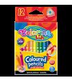 Trojhranné pastelky krátké-12 barev